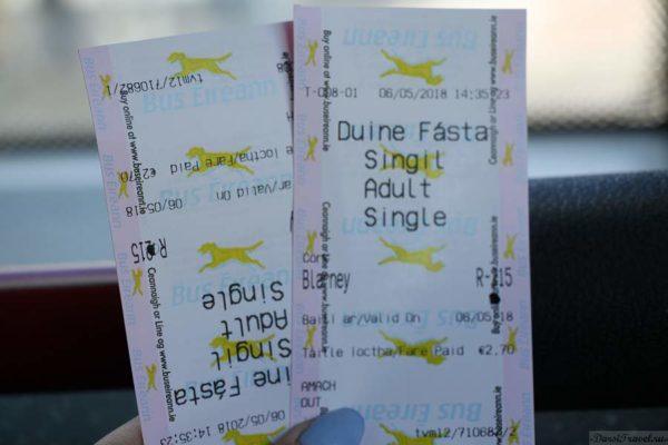 Ирландия. Корк. Автобусные билеты до Бларни.